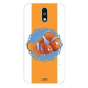 Hamee Disney Pixar Finding Dory Official Licensed Designer Cover Hard Back Case for Lenovo K5 Note (Nemo Marlin / Ribbon)
