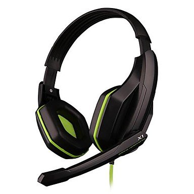 Ovann X1 Professional Headband Stereo Gaming Headphone With Microphone For Pc Game (Green/Orange)