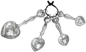 Ganz 4-Piece Measuring Spoons Set, Hearts by Ganz