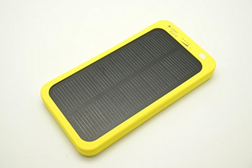 Bon Venu Solar Panel Charger 5000mAh Portable Charger External Battery Power Bank 5V/200mA,Input:DC 5V/1A,Output:DC 5V/2A Constructed with a High Quality Solar Panel for Emergency Charging for Iphone 6, 6 Plus, 5s, 5c, 4s, 4, Ipod Touch, Ipad Mini,ipad 1,2,3,4,5,6,ipad Air Retina (Apple Lightning Adapter Included) Samsung Galaxy Note 2, Note 3, S2 S3, S4, S5,nexus 4/5/7,moto X, Lg G2/3,sony Xperia Z1 Black, Nokia Lumia 1520, Nokia Lumia 1020 4g,note Pro, Amazon Kindle Fire HDX 7/8.9 Tablet, Google Nexus Tablet 7,blackberry Z10, Sony Xperia Z, Motorola Droid Maxx, HTC One Mini, Droid Dna,most Android/windows Smart Cell Phones, Gps, Tablets, and Other Usb-charged Devices,plastic material shel With Led light (Yellow)