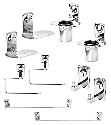 Doyours Bathroom Accessories Set (Set of 2, Steel Glossy)