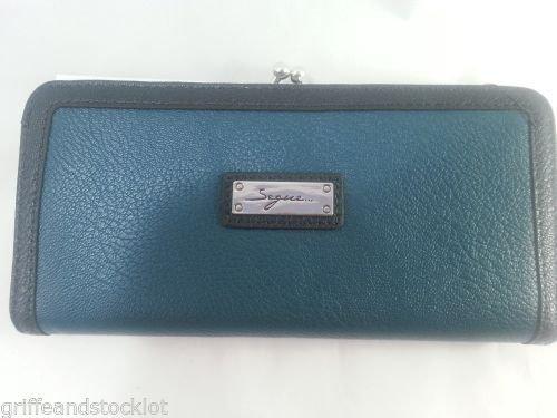 Segue firmato portafoglio wallet donna verde petrolio brieftasche portefeuille