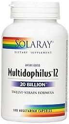 Solaray Multidophilus 12 20 Bil Supplement, 100 Count