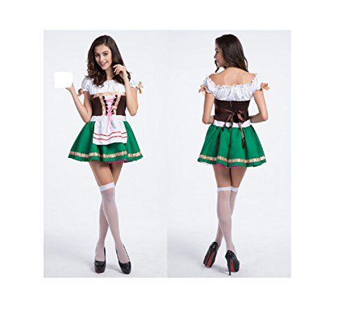 Maconaz Halloween Oktobefest Beer Girl Bavarian Bar Maid Costume