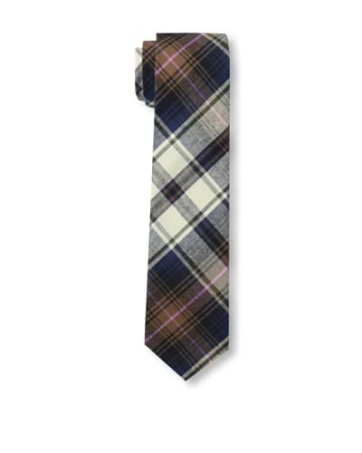 Gitman Vintage Men's Multi Plaid Tie, White/Pink