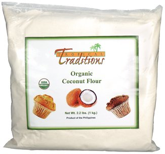 1 Tropical Traditions Organic Gluten Free Coconut Flour - 2.2 lbs.