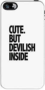 Snoogg Cute But Devilish Inside Case Cover For Apple Iphone 5/5S/5S/5S