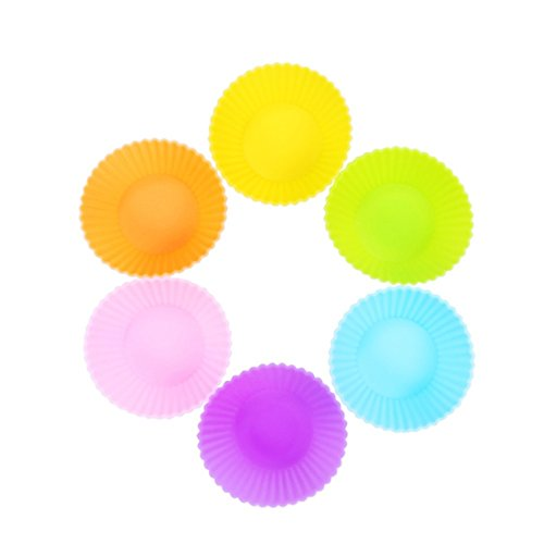 TuangShop Silicone Cup cake Tool Bakeware Baking Pastry 7CM 12pcs 6 Colors (Lips Cake Pan compare prices)