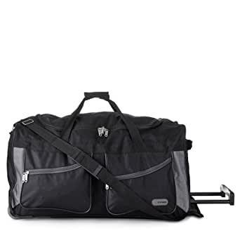 """5 villes® 27"""" Noir Sac à roulettes Fourre-tout chariot à bagages - seulement 2,6 kg avec la capacité 78L"""