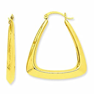 14K Fancy Hoop Earrings