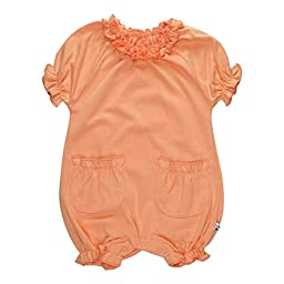 Babysoy Bubble Romper (Baby) - Cantaloupe-12-18 Months