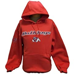 New! Red NCAA California State University Fresno Bulldogs Pullover Hoodie Medium (M) by NCAA