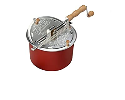 Whirley Pop Stovetop 6 Quart Popcorn Popper Color: Red from Wabash Valley Farms