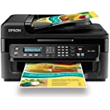 Epson WorkForce WF-2530 Wireless All-in-One Color Inkjet Printer, Copier, Scanner, ADF, Fax. Prints from Tablet/Smartphone. AirPrint Compatible (C11CC37201)