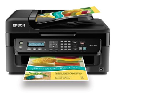 Review Epson WorkForce WF-2530 Wireless All-in-One Color Inkjet Printer, Copier, Scanner, ADF, Fax. ...