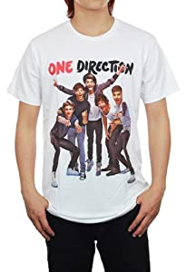 One Direction 1D UK Superstar White Unisex Music T-Shirt