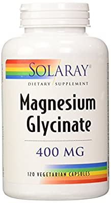 Solaray Magnesium Glycinate 400 Mg - 120 Veg Capules