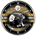 Pittsburgh Steelers Official NFL 12 inch Round Chrome Wall Clock by Wincraft, Inc. 279197