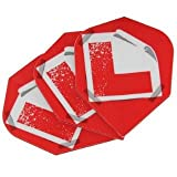 Harrows Quadro Dart Flights Learner Set of 3