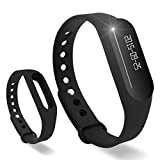 Lincass Touch Screen OLED Smart Healthy Bracelet Watch Wristband Sport Gym Fitness Tracker Stopwatch Passometer WristWatch Phone Mate Supports Android 4.3 or Above Android Smartphones (Black)