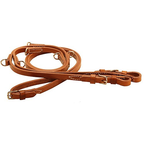 Tory Harness Leather German Martingale Buckle Rein