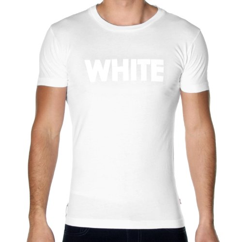 White T-Shirt, White, Medium