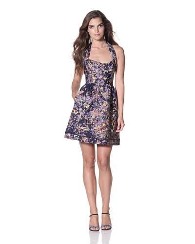 Cynthia Rowley Women's Bonded Spandex Party Dress  - Navy Confetti