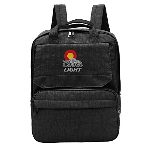 Colorado Flag Sun Coors Light Backpack For School Travel Fits Up To Ipad Casual (Jaw Pet Company compare prices)