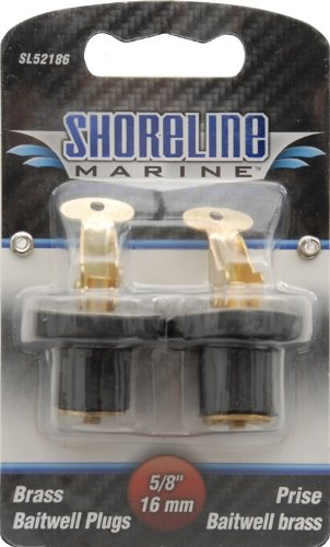 Shoreline Marine Brass Pr Baitwell Plug, 5/8-Inch