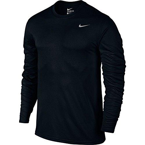 New Nike Men's Legend 2.0 L/S Training Top Black/Black/Matte Silver Medium