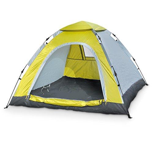 Igluzelt Kuppelzelt Outdoorzelt grün 3Personen Campingzelt Camping Zelt automatik