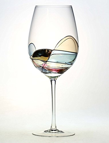 ANTONI BARCELONA Hand Painted Large Wine Glass - Unique Gifts for Women, Men, Wedding, Anniversary, Couples, Engagement - Set of 1 - Gifts Ideas for Her, Him, Birthday, Mom, Housewarming, Best Friends