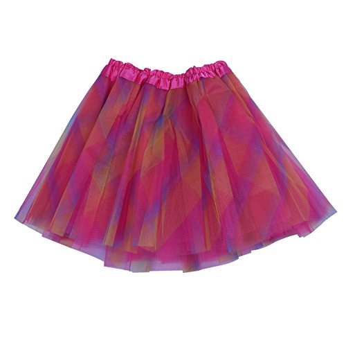 [SUNNYTREE Rainbow Tutu for Girls Skirts Party Ballet Dress Dance Costume Rainbow] (Make Poodle Skirt Costumes)