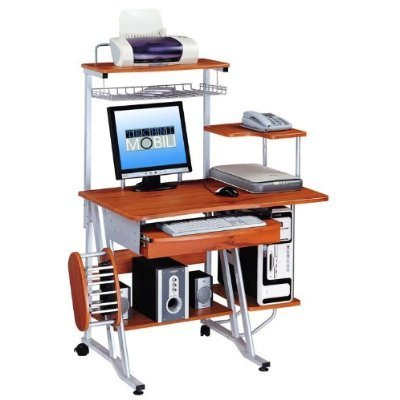 BuyHas a CPU stand storage shelf . Keyboard tray has a pencil drawer