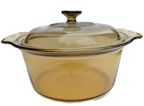 Visions 3.5L Covered Dutch Oven Amber Glass Pot & Lid