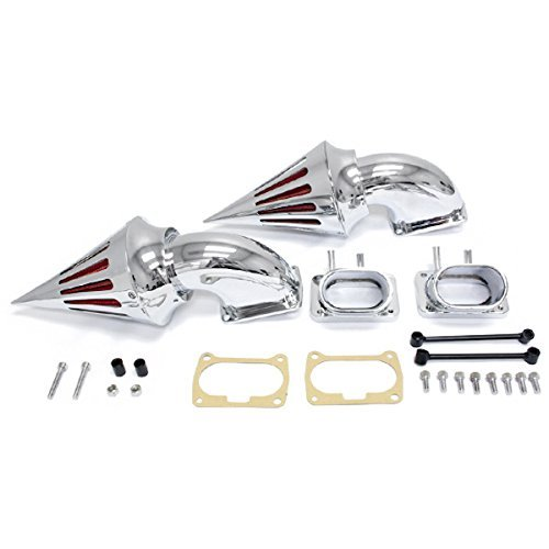 Krator Chrome Dual Spike Air Intake Cleaner - Plus Filter For Suzuki Boulevard M109 (All Years). 288619734
