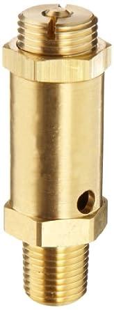 "Kingston 100SS Series Brass Safety Valve, 25 psi Set Pressure, 1/4"" NPT Male"