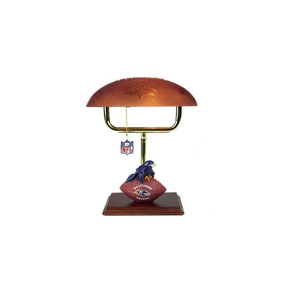 Baltimore Ravens NFL Mascot Desk Lamp w/ Football Shade (14)