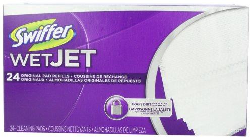 Swiffer Wetjet Spray Mop Floor Cleaner Pad Refills, 24-Count (Pack Of 2) (Packaging May Vary)