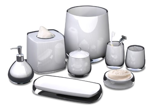 Nu Steel Roly Poly Collection Bathroom Accessories Set ,8-Piece