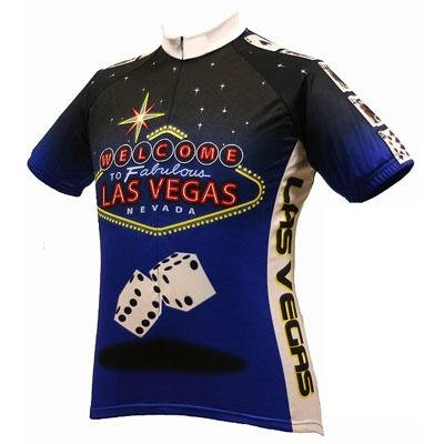 Buy Low Price World Jersey's Men's Las Vegas Short Sleeve Cycling Jersey (B001G55N0A)