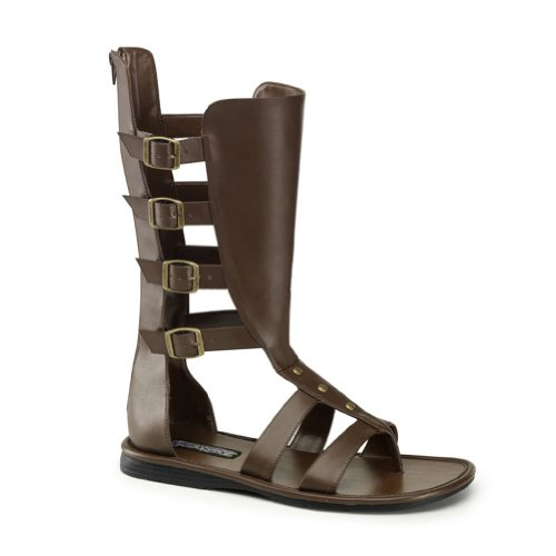 MENS SIZING Gladiator Costume Boots Open Toe Sandal Style Shoes