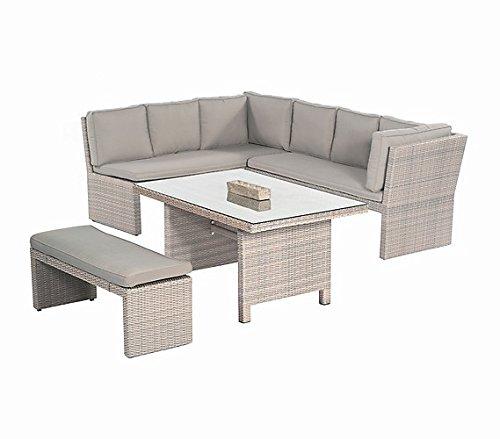 Sunny Smart Gartenmöbel Lounge Gruppe Brasil Polyrattan antik-grau jetzt kaufen