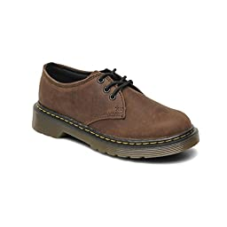 Dr. Martens Children\'s Everley Lace Shoe,Dark Brown Burnished Wyoming,UK 11 M