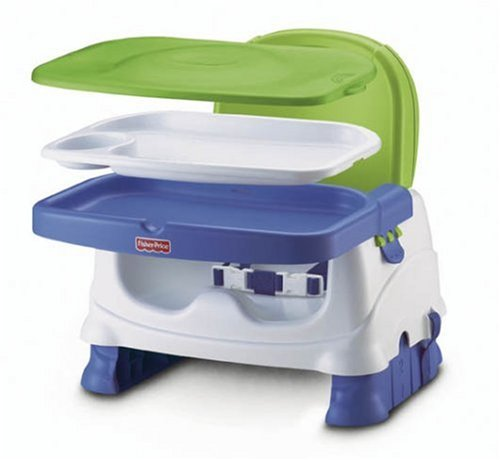 Fisher-Price Healthy Care Deluxe Booster Seat - Blue/Green/Gray