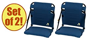 Set of 2 - GCI Outdoor BleacherBack Stadium Seat by GCI Outdoors