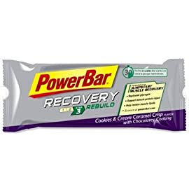 PowerBar Performance Recovery Bar - Box of 15 - Cookies & Cream Caramel Crisp