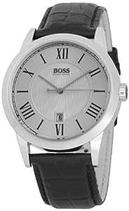 Hugo Boss - 1512439 - Gents Classic - Montre Homme - Quartz Analogique - Cadran Argent - Bracelet Cuir Noir