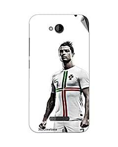 Miicreations Mobile Skin Sticker For HTC Desire 616,Lionel Messi