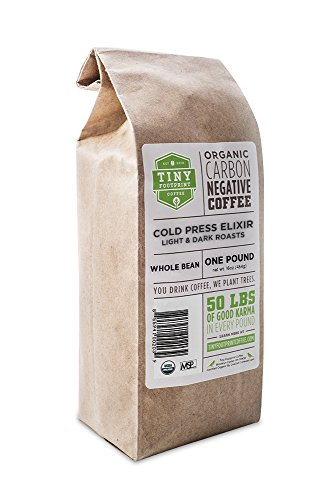 Tiny Footprint Coffee Organic Cold Press Elixir Coffee, Whole Bean, 16 Ounce (Whole Bean Coffee 1lb compare prices)